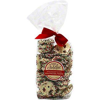 Sweet Jubilee White Chocolate Mini Christmas Pretzels, 8 oz