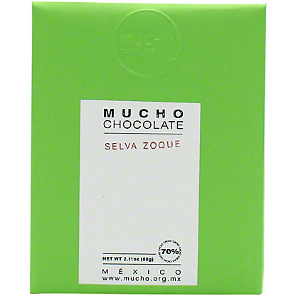 Mucho Chocolate Dark Chocolate Selva Zoque 70% Cacao, 2.11 oz