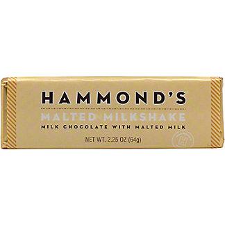Hammond's Malted Milkshake Chocolate Bar, 2.25 oz