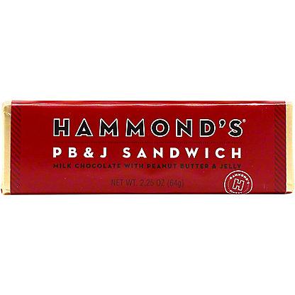 Hammond's Peanut Butter & Jelly Sandwich Chocolate Bar, 2.25 oz