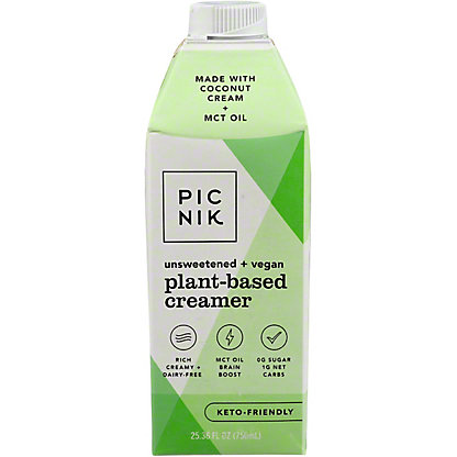 Picnik Unsweetened Vegan Liquid Coffee Creamer, 25.36 oz