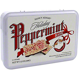 Nancy Adams Holiday Peppermint Bark Tin, 12 oz