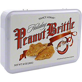Nancy Adams Holiday Peanut Brittle Tin, 10 oz