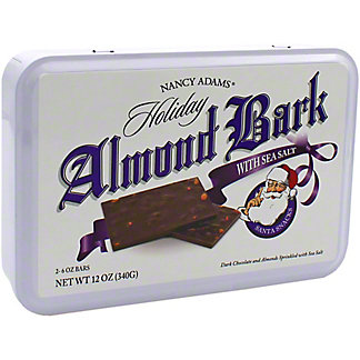 Nancy Adams Dark Chocolate Sea Salt Almond Bark Tin, 12 oz
