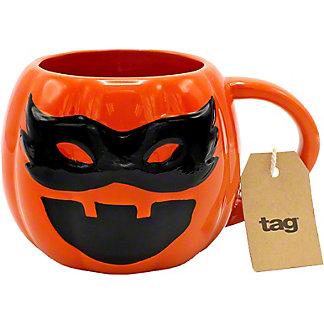 Tag Masked Pumpkin Mug, EACH