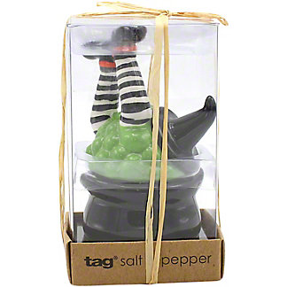 Tag Witch And Cauldron Salt And Pepper Set, EACH