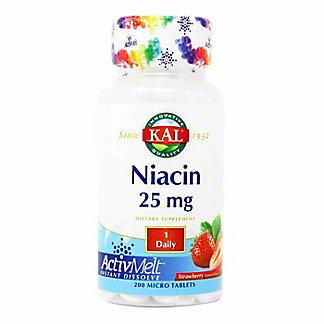 Kal Strawberry Niacin Activmelt Tablets, 200 ct