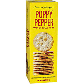 Central Market Poppy Pepper Crackers, 6.3 oz