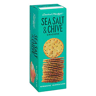 Central Market Sea Salt & Chive Crackers, 5.5 oz