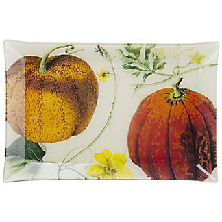 Tag Pumpkin Patch Glass Plate, ea