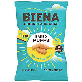 Biena Aged White Cheddar Chickpea Puffs, 3.2 oz
