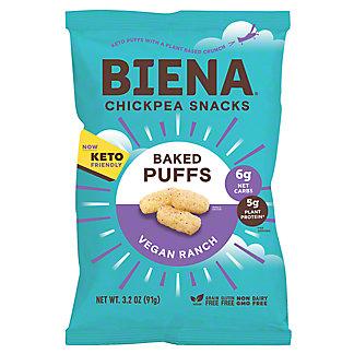 Biena Vegan Ranch Chickpea Puffs, 3.2 oz