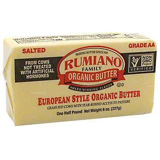 Rumiano European Style Organic Salted Butter, 8 oz