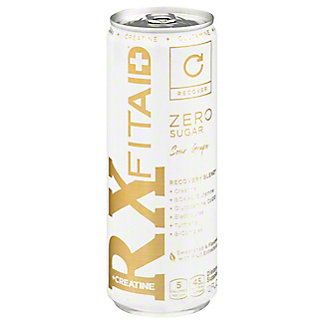 LIFEAID FITAID RX Zero Sugar Recovery Blend + Creatine Supplement Beverage, 12 oz