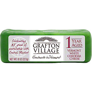 Grafton Village Central Market Anniversary 1 Year White Cheddar, 8 oz