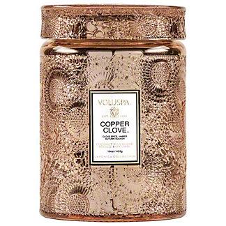 Voluspa Copper Clove Glass Jar Candle Large, 16 oz