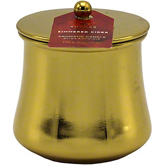 Thymes Simmered Cider Gold Candle, 6 oz