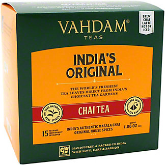 Vahdam India's Original Chai Tea , 15 ct