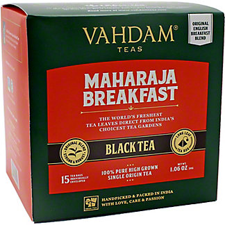 Vahdam Maharaja Breakfast Black Tea , 15 ct