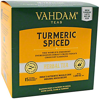 Vahdam Turmeric Spiced HerbalTea, 15 ct