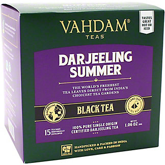 Vahdam Darjeeling Summer Black Tea, 15 ct