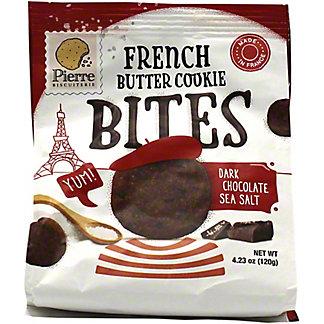 Pierre Biscuiterie Dark Chocolate Sea Salt French Butter Cookie Bites, 4.23 oz