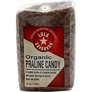Lola Savannah Organic Praline Candy Coffee, 12 oz