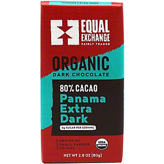 Equal Exchange Chocolates Extra Dark Organic Chocolate 80% Cacao, 2.8 oz