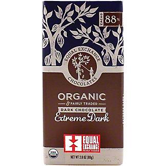 Equal Exchange Chocolates Extreme Dark Organic Chocolate 88% Cacao, 2.8 oz