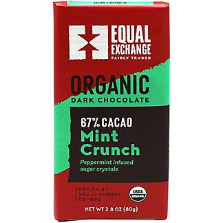 Equal Exchange Chocolates Mint Crunch Organic Chocolate 67% Cacao, 2.8 oz