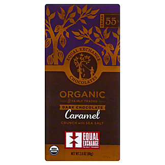 Equal Exchange Chocolates Bar Dark Caramel Crunch Org, 2.8 oz