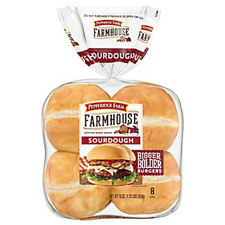 Pepperidge Farm Farmhouse Sourdough Hamburger Buns, 8 ct
