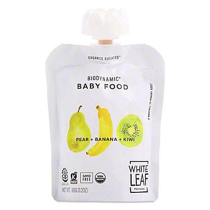 White Leaf Provisions OrganicPear Banana Kiwi Baby Food, 3.2 oz