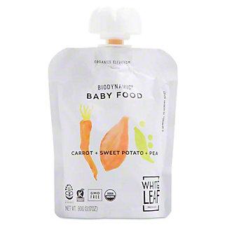 White Leaf Provisions Organic Carrot Sweet Potato Pea Baby Food, 3.2 oz