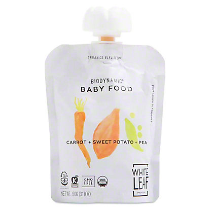 White Leaf Provisions Organic Carrot Sweet Potato Pea Baby Food, 3.2 oz