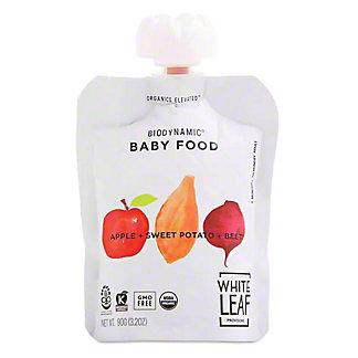 White Leaf Provisions Organic Apple Sweet Potato Beet Baby Food, 3.2 oz
