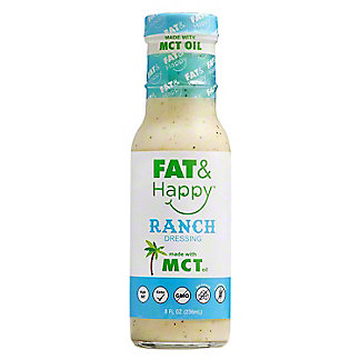 Fat & Happy Ranch Dressing Made With MCT Oil, 8 oz