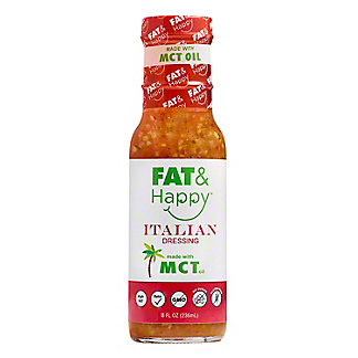 Fat & Happy Italian Dressing Made With MCT Oil, 8 oz