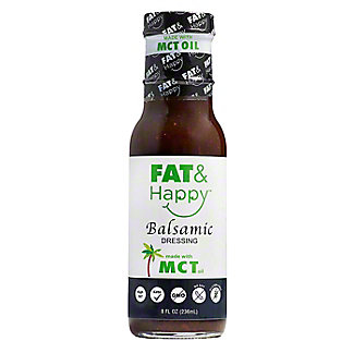 Fat & Happy Balsamic Dressing With MCT Oil, 8 oz