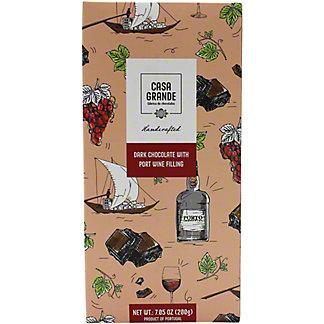 Casa Grande Port Wine Dark Chocolate Bar, 7.05 oz