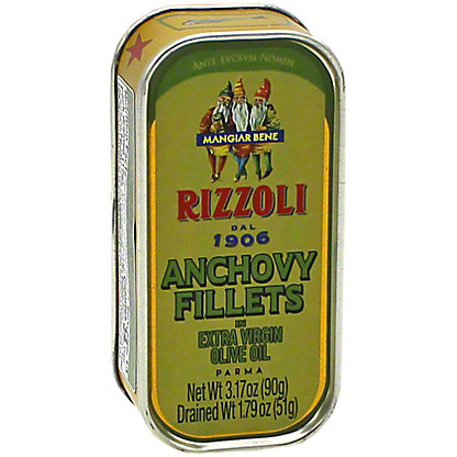 Rizzoli Anchovy Fillets in Extra Virgin Olive Oil, 3.17 oz