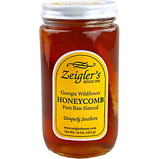 Zeigler's Georgia Wildflower Honey with Comb, 16 oz