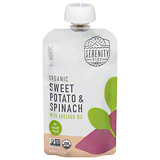 Serenity Kids Organic Sweet Potato & Spinach With Avocado Oil, 3.5 oz