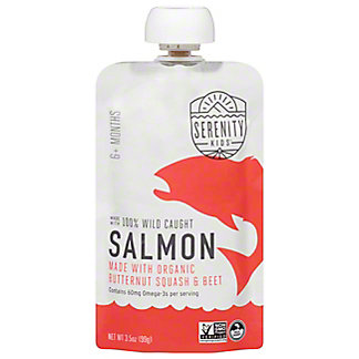 Serenity Kids Wild Caught Salmon With ButternutSquash & Beet, 3.5 oz