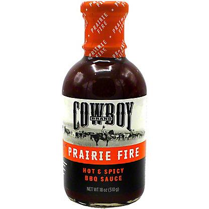 Cowboy Prairie Fire Hot and Spicy BBQ Sauce, 18 oz