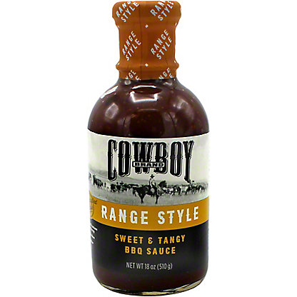 Cowboy Range Style Sweet and Tangy BBQ Sauce, 18 oz