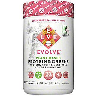 Evolve Protein & Greens Strawberry Banana Flavor, 16 oz