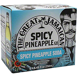 The Great Jamaican Spicy Pineapple Soda Bottles 8.45 oz , 6 pk