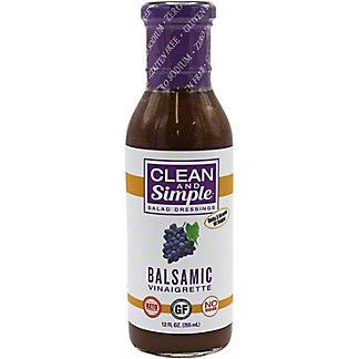 Clean & Simple Salad Dressing Balsamic Vinaigrette, 12 oz