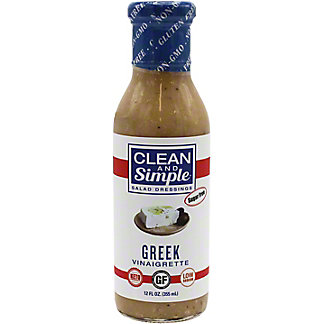 Clean & Simple Salad Dressing Greek Vinaigrette, 12 oz